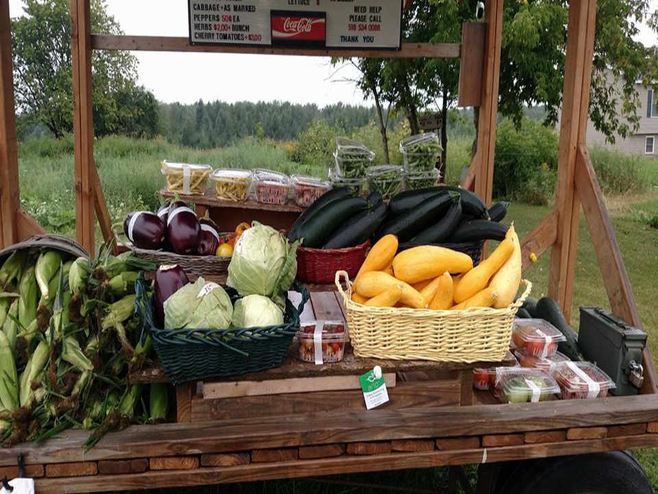 Produce Market Kiosk Souzas Farm Stand / Maple House Champlain New York USA Ulocal Local Product Local Purchase
