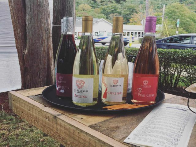 Vineyard Wine Bottles The Renegade Winery Tannersville Pennsylvania United States Ulocal Local Product Local Purchase