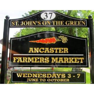 public markets logo ancaster farmers market ancaster ontario canada ulocal local products local purchase local produce locavore tourist