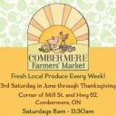 public markets logo combermere farmers market combermere ontario canada ulocal local products local purchase local produce locavore tourist