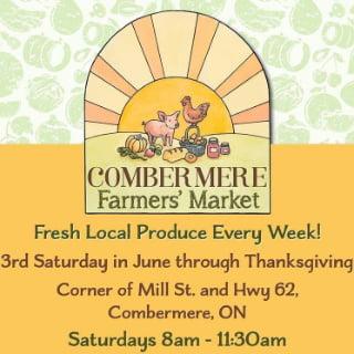 marché public logo combermere farmers market combermere ontario canada ulocal produits locaux achat local produits du terroir locavore touriste