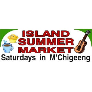 public markets logo island summer market m'chigeeng ontario canada ulocal local products local purchase local produce locavore tourist