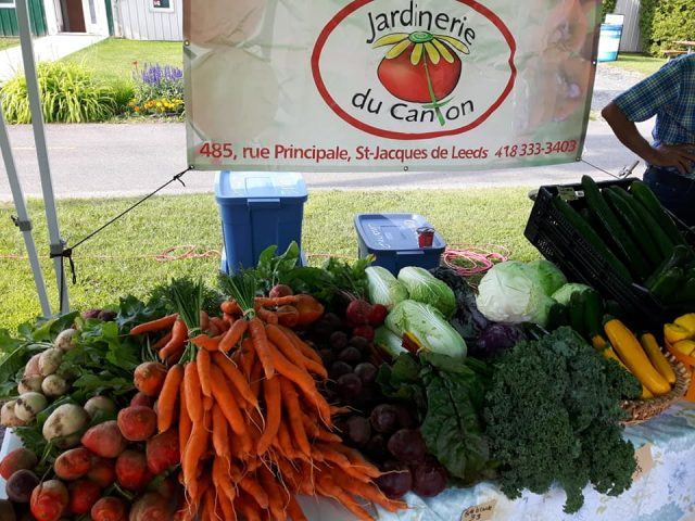 Organic fruit and vegetable market Canton Jardin Saint-Jacques-de-Leeds Ulocal local product local purchase