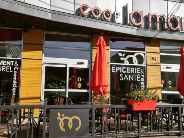Ecological Organic Grocery Restaurant Food Shop La Manne, Health Grocery Victoriaville Quebec Ulocal Local Product Local Purchase