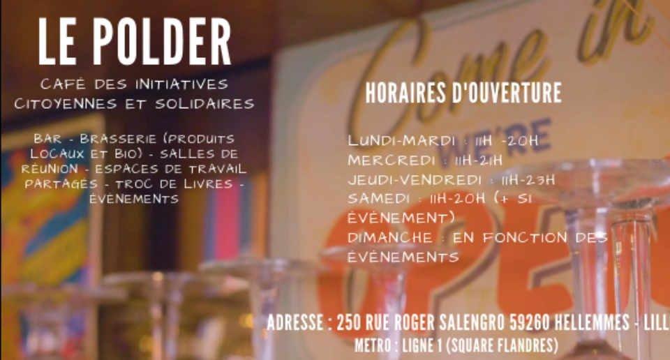 Bar brasserie alcool biologique Hellemmes Le Polder Belgique ulocal produit local achat local