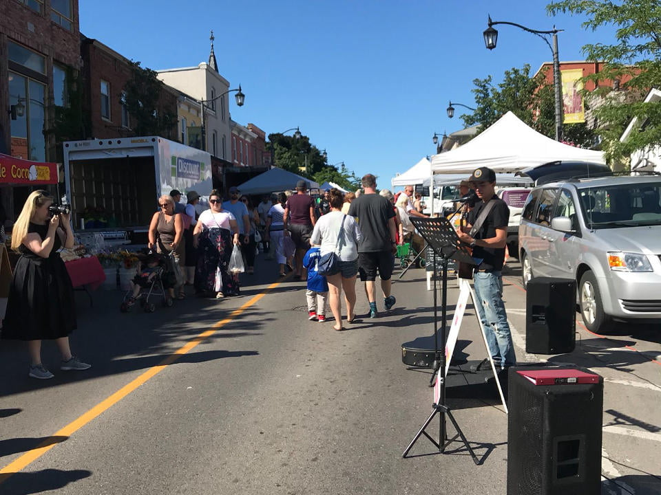 public markets extraordinary day for the market with live music in the street milton farmers market milton ontario canada ulocal local products local purchase local produce locavore tourist