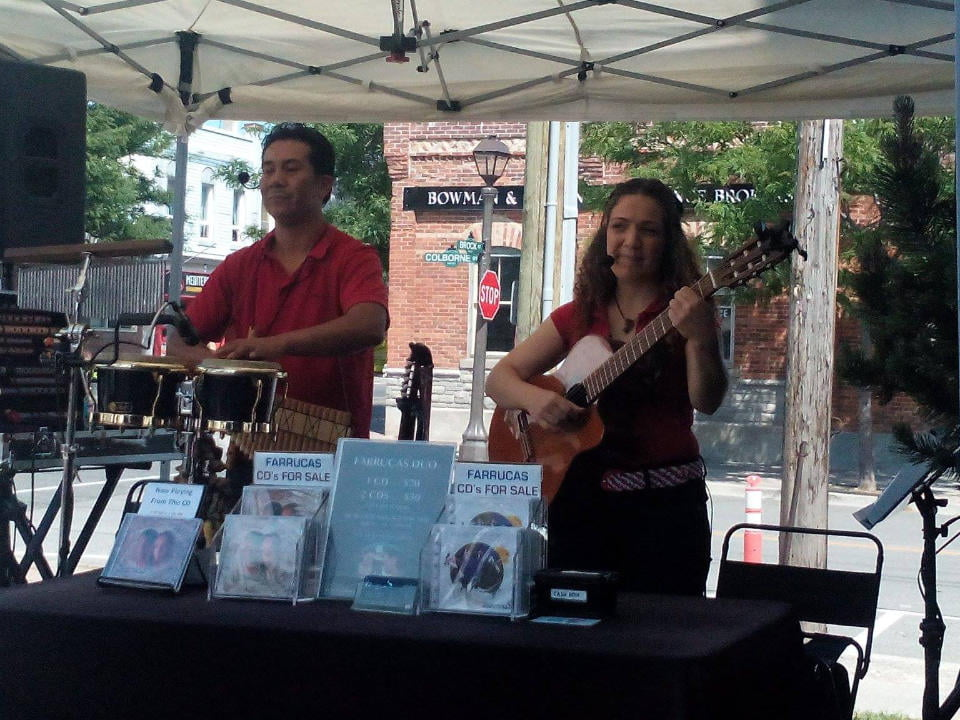 public markets the group farrucas duo who plays live at the market port perry lakefront farmers market port perry ontario canada ulocal local products local purchase local produce locavore tourist