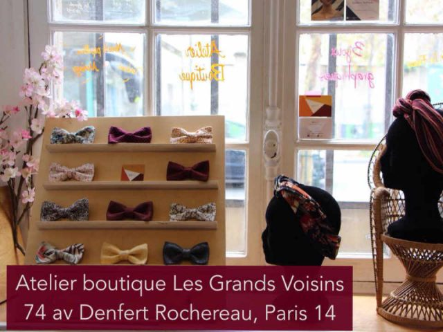 vêtements boutique noeuds papillon et turbans wax-etc France Paris Ulocal produit local achat local