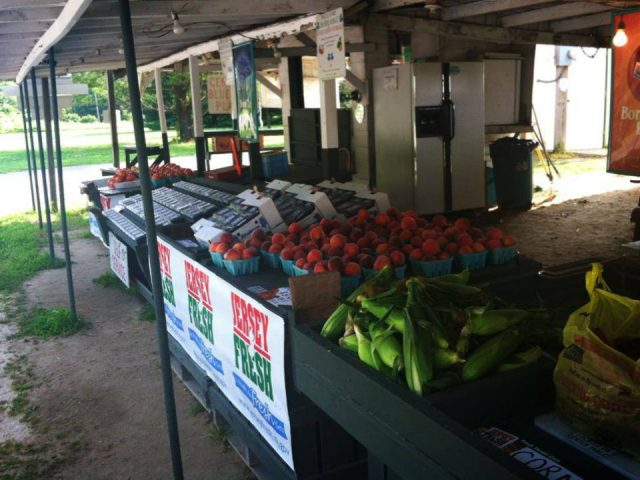 produce markets fruit and vegetable tables under the gazebo 206 farm market hillsborough township new jersey united states ulocal local products local purchase local produce locavore tourist