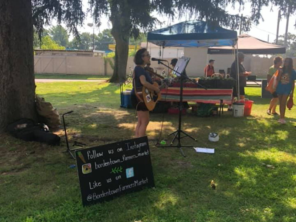public markets live music in the park with sharyn alice murray and her guitar bordentown farmers market bordentown new jersey united states ulocal local products local purchase local produce locavore tourist