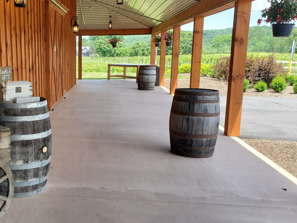 vineyard covered patio overlooking the vineyards brook hollow winery columbia new jersey united states ulocal local products local purchase local produce locavore tourist