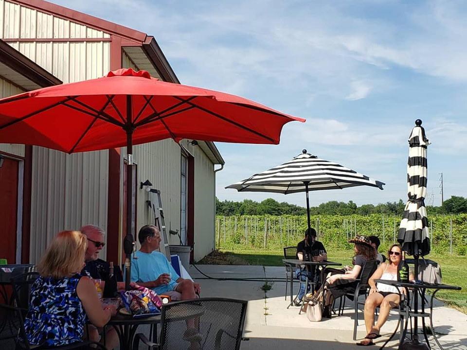 vignoble belle journée sur le patio pour déguster du vin avec vue sur les vignobles cedarvale winery swedesboro new jersey united states ulocal produits locaux achat local produits du terroir locavore touriste