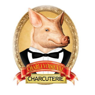 butcher shop logo charcuterie charlevoisienne saint-urbain quebec canada ulocal local products local purchase local produce locavore tourist
