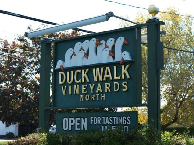 vineyards vineyard sign duck walk vineyards north fork southold new york united states ulocal local products local purchase local produce locavore tourist