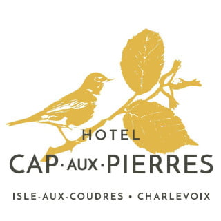 restaurant logo hôtel cap-aux-pierres la baleine quebec canada ulocal local products local purchase local produce locavore tourist