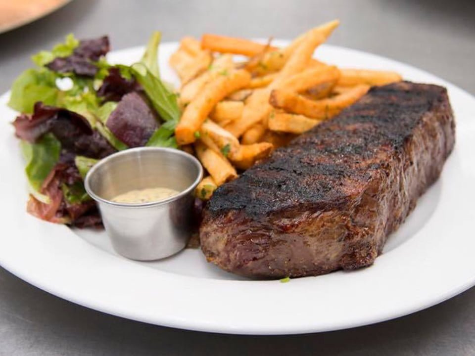 restaurant steak frites prime ny strip with house cut fries and mustard aioli laboratorio kitchen montclair new jersey united states ulocal local products local purchase local produce locavore tourist