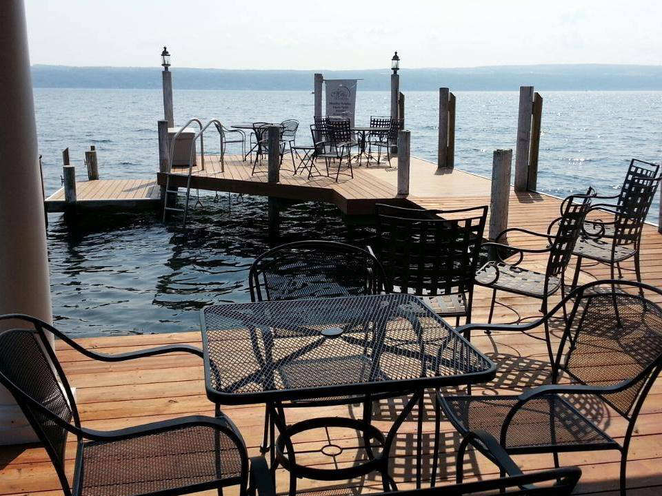 vineyards beautiful dock terrace terrace on the water with tables and chairs to enjoy the view miles wine cellars himrod new york united states ulocal local products local purchase local produce locavore tourist