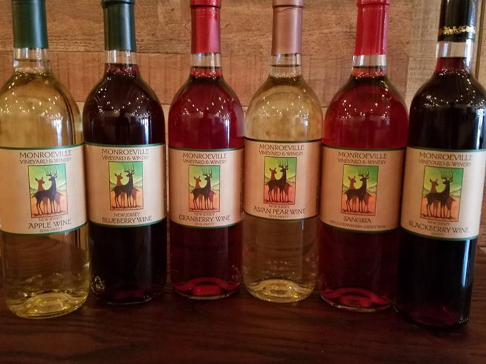vineyard 6 bottles of varied wines monroeville vineyard and winery monroeville new jersey united states ulocal local products local purchase local produce locavore tourist
