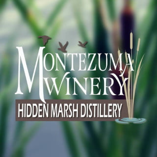 vignoble logo montezuma winery and hidden marsh distillery seneca falls new york états unis ulocal produits locaux achat local produits du terroir locavore touriste