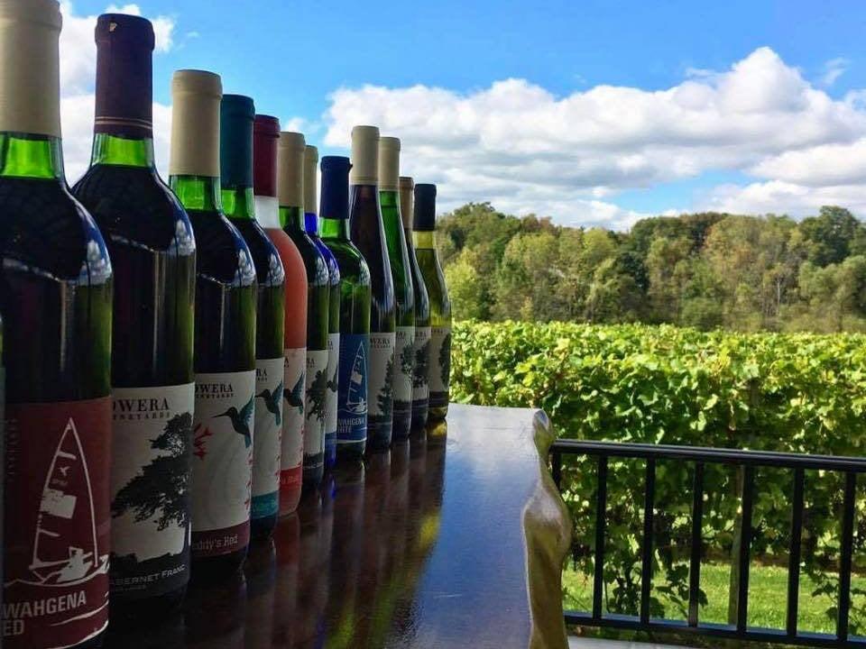 vignoble assortiment de bouteilles de vin du vignoble owera vineyards cazenovia new york états unis ulocal produits locaux achat local produits du terroir locavore touriste