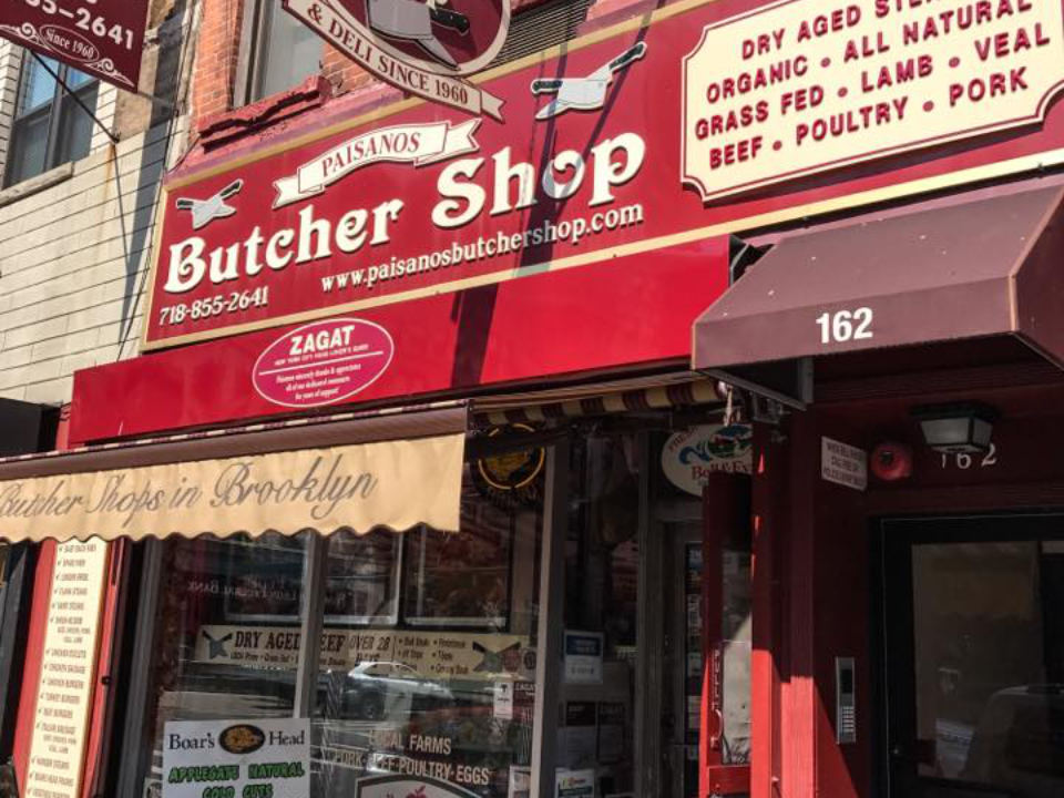 butcher shop red facade of the outdoor butcher shop paisanos butcher shop brooklyn new york united states ulocal local products local purchase local produce locavore tourist