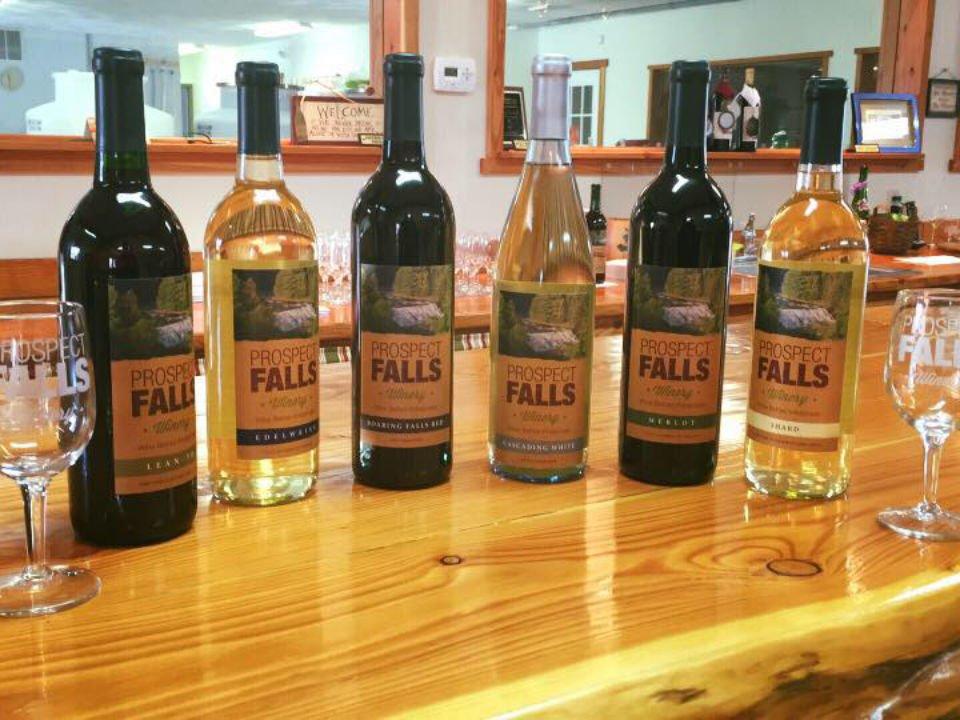 vignoble assortiment de bouteilles de vin du vignoble sur le bar de la salle de dégustation prospect falls winery prospect new york états unis ulocal produits locaux achat local produits du terroir locavore touriste
