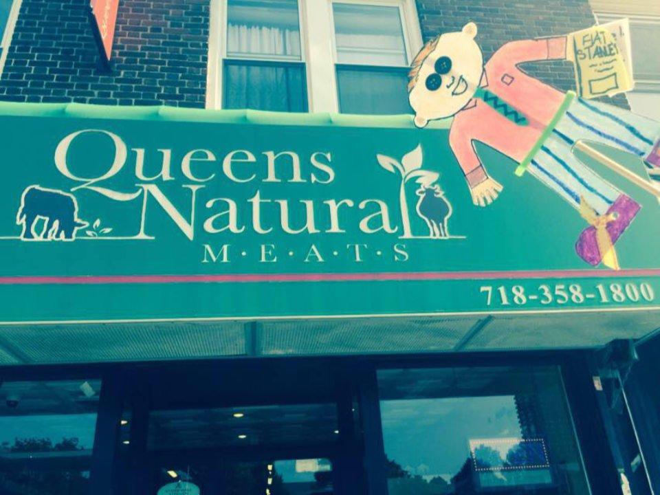 boucherie enseigne extérieure de la boucherie queens natural meats fresh meadows new york états unis ulocal produits locaux achat local produits du terroir locavore touriste