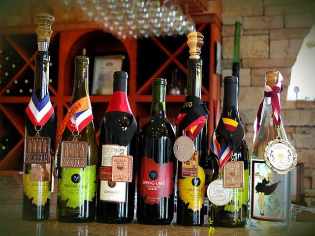 vineyard variety of 7 bottles of vineyard wine awarded spring lake winery lockport new york united states ulocal local products local purchase local produce locavore tourist