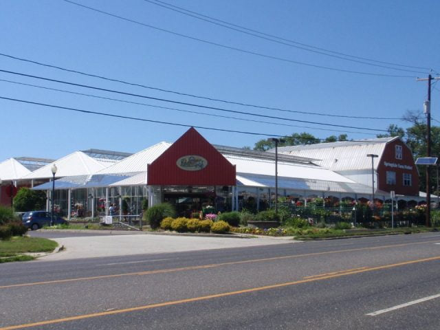 public markets 985/5000 market overview with its white shelters and red front springdale farm market cherry hill new jersey united states ulocal local products local purchase local produce locavore tourist
