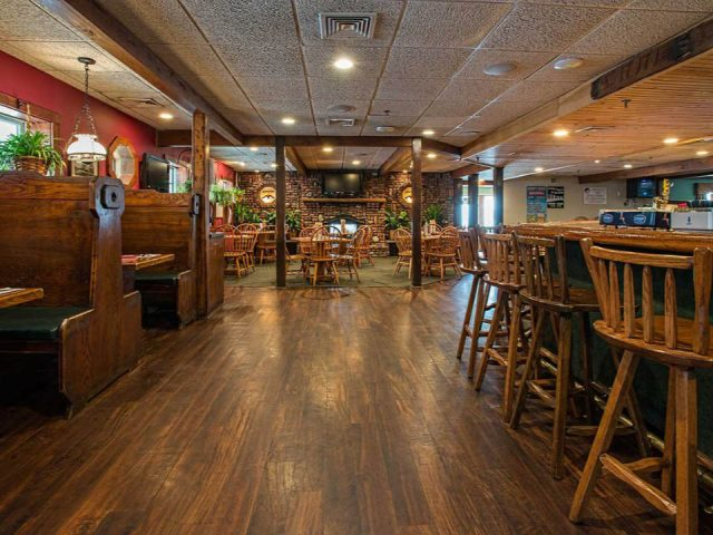 restaurant interior of the pub restaurant with lots of woodwork the crabs claw inn lavallette new jersey united states ulocal local products local purchase local produce locavore tourist