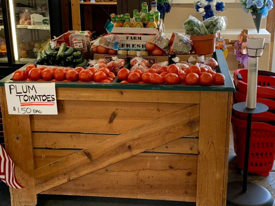 produce markets tomato vegetable counter inside the market tony morellis market glendora new jersey united states ulocal local products local purchase local produce locavore tourist