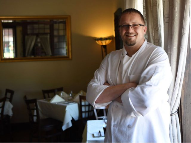 restaurant chef kevin portscher inside the restaurant village green restaurant ridgewood new jersey united states ulocal local products local purchase local produce locavore tourist
