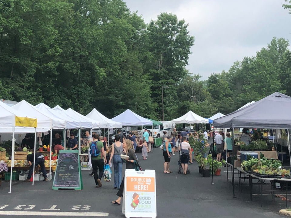 public markets market in action with customers on the site west windsor community farmers market princeton new jersey united states ulocal local products local purchase local produce locavore tourist