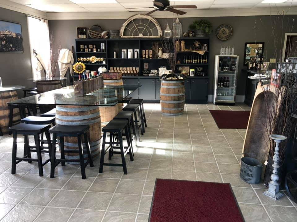 vineyards interior of the boutique and tasting room with center table with benches altamont vineyard and winery altamont new york united states ulocal local products local purchase local produce locavore tourist