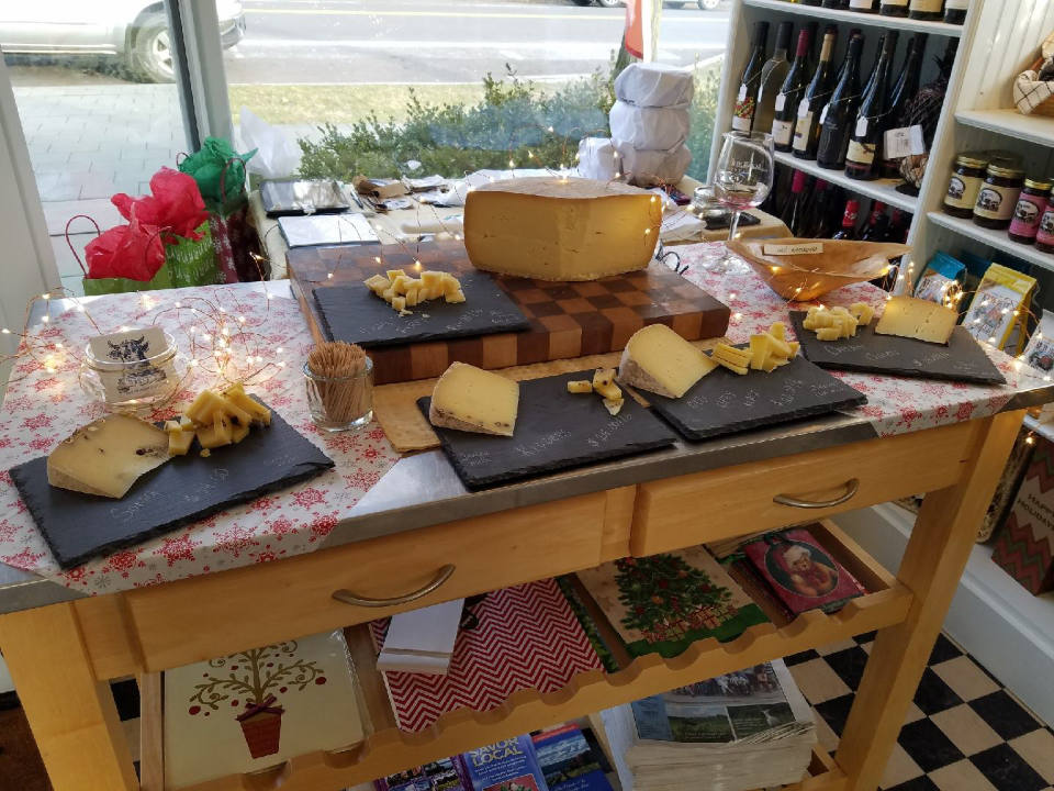vineyards local cheese tasting table in the shop bet the farm winery trumansburg new york united states ulocal local products local purchase local produce locavore tourist
