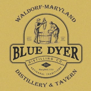 liquor logo bluedyer distilling co waldorf maryland united states ulocal local products local purchase local produce locavore tourist