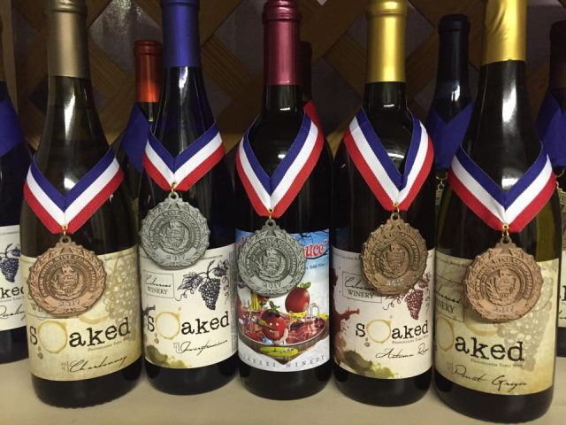 vineyards assortment of award-winning wine from the vineyard calvaresi winery bernville pennsylvania united states ulocal local products local purchase local produce locavore tourist