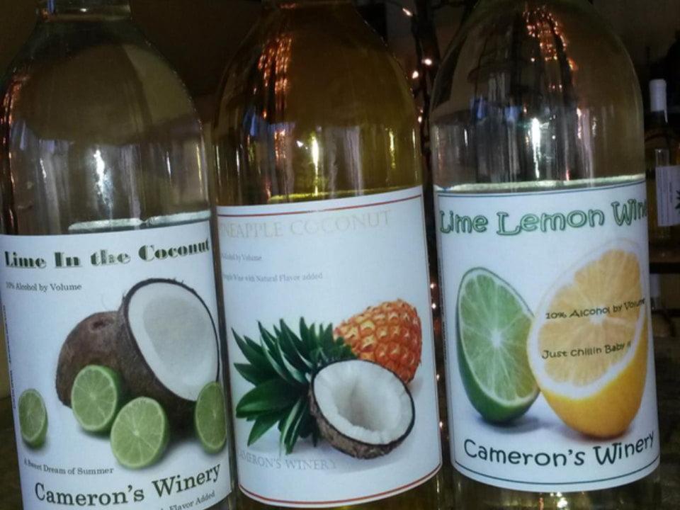 vignoble 3 bouteilles de vin du vignoble camerons winery northfield massachusetts états unis ulocal produits locaux achat local produits du terroir locavore touriste