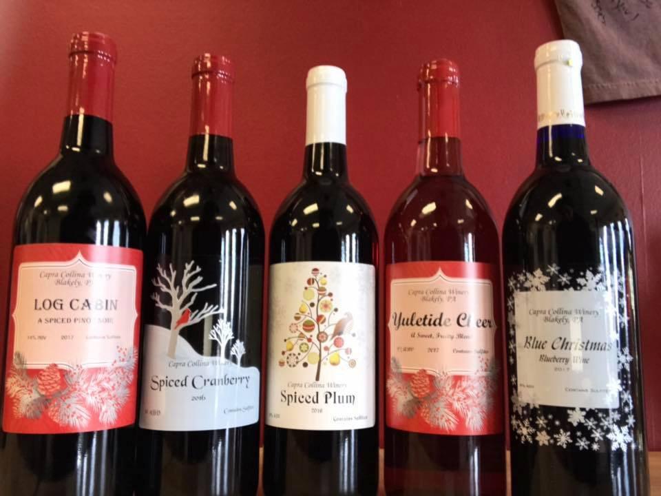 vignoble assortiment de bouteilles de vin du vignoble capra collina winery scranton pennsylvanie états unis ulocal produits locaux achat local produits du terroir locavore touriste