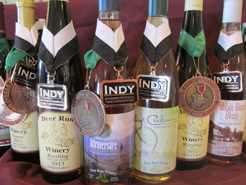 vineyards assortment of award-winning wine bottles from the vineyard deer run winery geneseo new york united states ulocal local products local purchase local produce locavore tourist