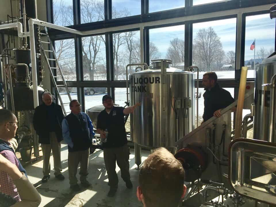 liquor guests who take a guided tour of the distillery with its stainless steel tanks and large windows five and 20 spirits and brewing westfield new york united states ulocal local products local purchase local produce locavore tourist