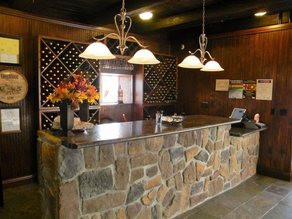vineyards tasting room with bar made with stones groundhog winery punxsutawney pennsylvania united states ulocal local products local purchase local produce locavore tourist