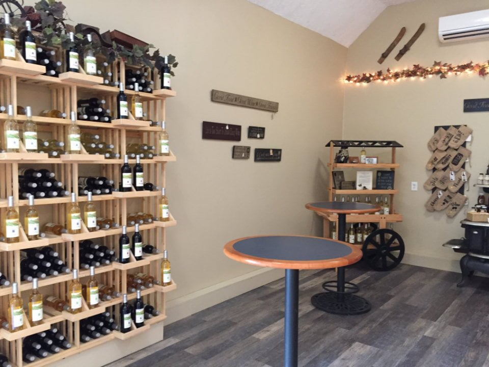 vineyards vineyard shop with wine display nickle creek vineyard foster rhode island united states ulocal local products local purchase local produce locavore tourist