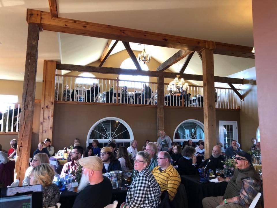 vineyards inside the 2-floor tasting room filled with people attending a live show spyglass ridge winery sunbury pennsylvania united states ulocal local products local purchase local produce locavore tourist