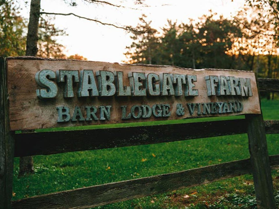 vineyards outdoor sign of the vineyard and the farm stable gate winery castleton-on-hudson new york united states ulocal local products local purchase local produce locavore tourist