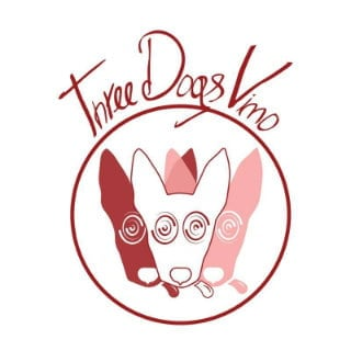 vineyards logo three dogs vino bloomsburg pennsylvania united states ulocal local products local purchase local produce locavore tourist