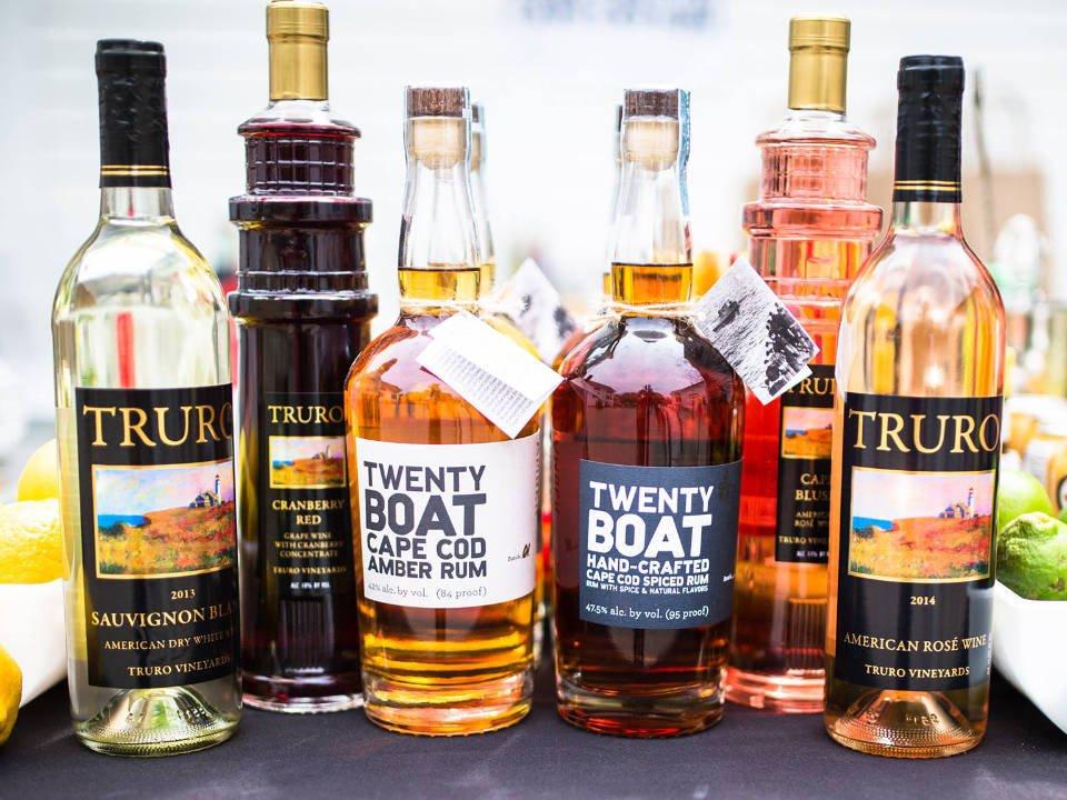 vignoble bouteilles de vin et de spiritueux fabriqués sur place truro vineyards north truro massachusetts états unis ulocal produits locaux achat local produits du terroir locavore touriste