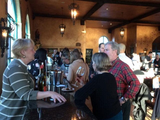 vineyards tasting room filled with guests at the bar and tables ventosa vineyards geneva new york united states ulocal local products local purchase local produce locavore tourist