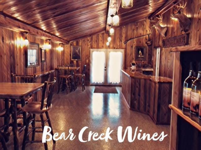 vineyards inside the tasting room a lot of woodwork and animal head on the wall bear creek wines kane pennsylvania united states ulocal local products local purchase local produce locavore tourist