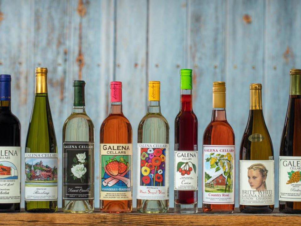vignoble assortiment de bouteilles de vin du vignoble galena cellars vineyard galena illinois états unis ulocal produits locaux achat local produits du terroir locavore touriste